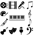Music art signs set icon vector image