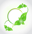 Abstract frames with eco green leaves vector image