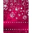 Christmas balls over green bokeh EPS 8 vector image