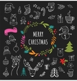 Christmas Design Elements - Doodle Xmas symbols vector image