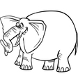 elephant cartoon for coloring vector image