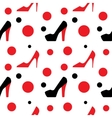 female shoes pattern vector image