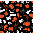 halloween dark seamless pattern eps10 vector image