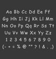 handwritten letters english alphabet chalk vector image