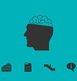 human brain icon flat vector image