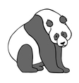 Panda Hand drawn isolated on vector image