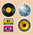 retro vintage design elements vector image