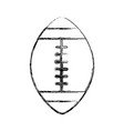 sketch draw american football ball cartoon vector image