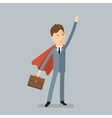 Super Businessman Concept of success vector image