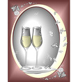 two glasses to celebrate vector image