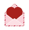 cute heart envelope love message vector image