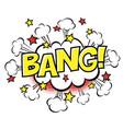 bang phrase in speech bubble comic text bubble vector image