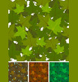 seamless maple leaves background set vector image vector image