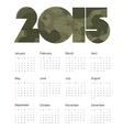 camouflage calendar 2015 design vector image