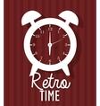 Time clock vintage design vector image