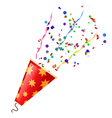 Poppers with serpentine and confetti isolated vector image