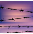 Barbed Wire Against Sky vector image