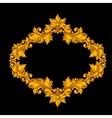 Baroque ornamental antique gold frame on black vector image