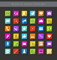 buttons set of icons application interface logo vector image