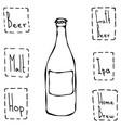 craft beer bottle hand drawn vector image