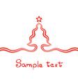 Elementary Christmas Card vector image