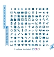 Internet communications business icons set vector image