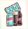 logo for cola vector image