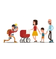 Photographer shooting happy family vector image