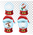 set of christmas magic balls a collection of vector image