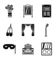 stand up icons set simple style vector image
