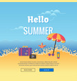 Summer party poster colorful sea vacation concept vector image