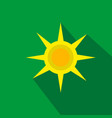 Sun flat cartoon icon summer brazil vector image