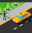 taxi service isometric background vector image