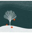 Winter apple tree vector image