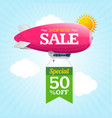 sale concept labels with airship vector image vector image