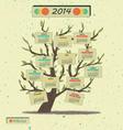 Calendar 2014 Tree vector image