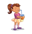 Girl with juice vector image