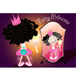 Fairy princess holding a bag of magic dust vector image