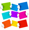 Colorful Empty Paper Labels Set Isolated on White vector image vector image