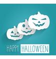 Happy Halloween blue poster vector image