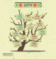 Calendar 2014 Tree vector image