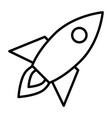 rocket line icon business startup symbol vector image