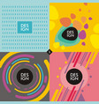 Web banners backgrounds vector image