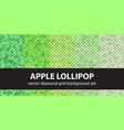 diamond pattern set apple lollipop seamless vector image