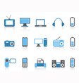 simple electronic iconsblue color series vector image vector image