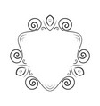 hand drawn frame element vector image
