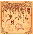 hand drawn new year card vector image vector image