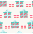Seamless pattern of gifts and presents vector image