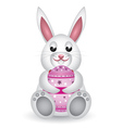Bunny with Easter egg2 vector image