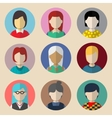 Set of avatars woman vector image